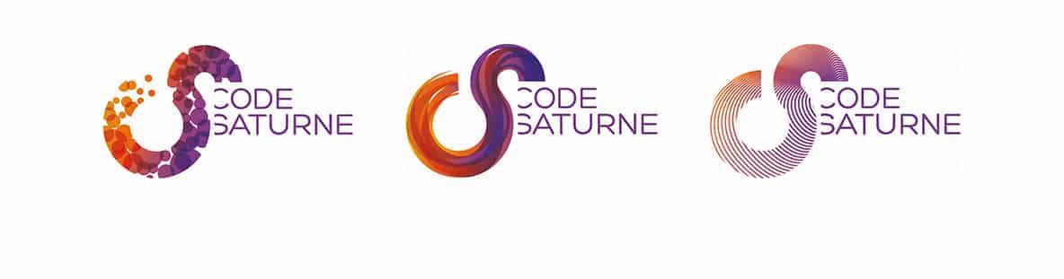 Creation Logotype Edf Code Saturne Logiciel Opensource Logo