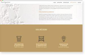 interface site web Lavigne Staff
