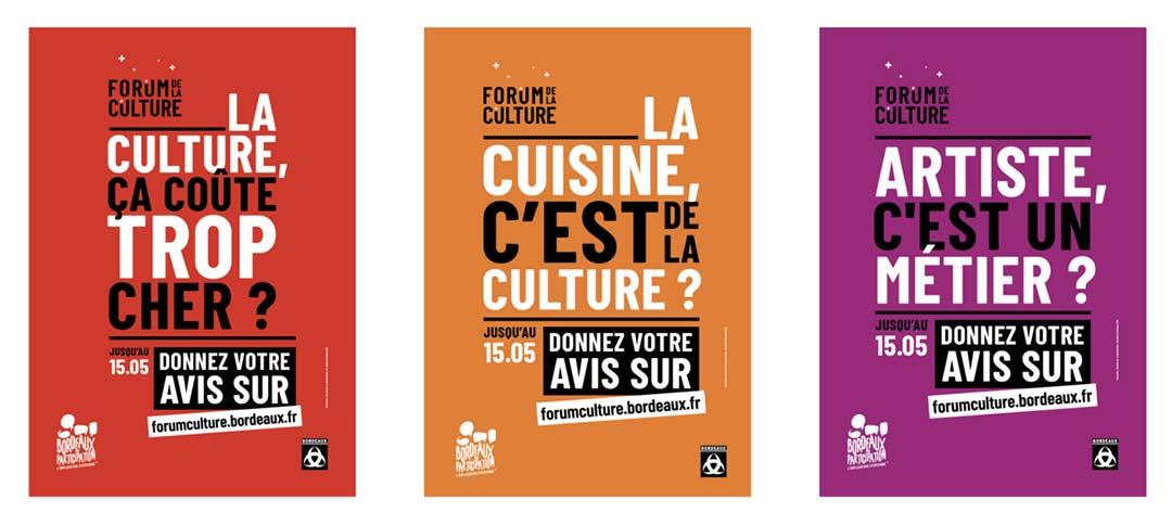 Campagne d'affichage du Forum de la Culture à Bordeaux