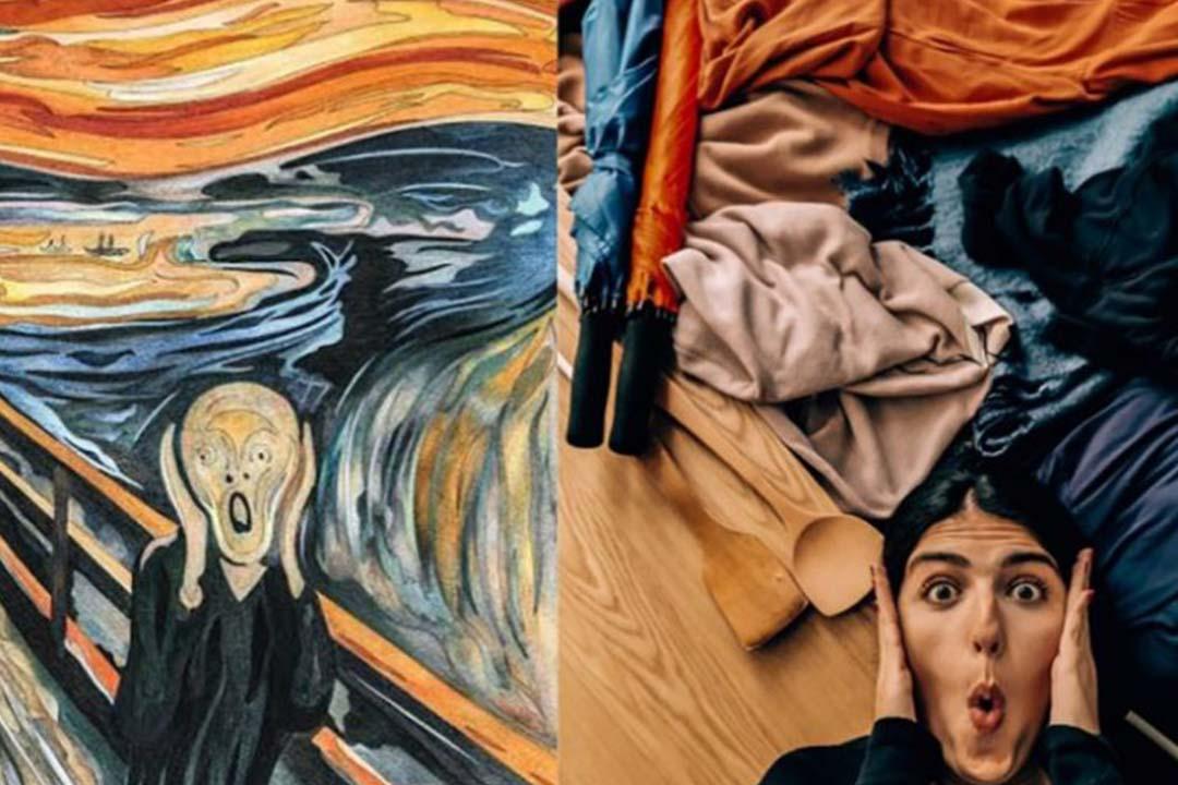 """Détournement du tableau """"Le Cri"""" d'Edvard Munch"""